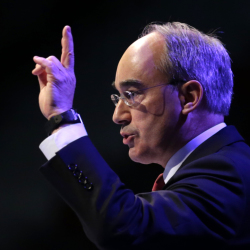 Congressional candidate Bruce Poliquin speaks at the Maine GOP Convention in April in Bangor. National Republicans have reserved $1.5 million in ad time in Maine through election day in support of Poliquin. (AP Photo/Robert F. Bukaty)