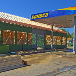 A new market is being built at the site of the former Webb's gas station in Randolph, which was destroyed in an accidental fire in March.