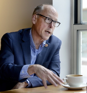 National Republican Congressional Committee Chairman U.S. Rep. Greg Walden, R-Ore., during an interview Tuesday at Arabica coffee shop in Portland.