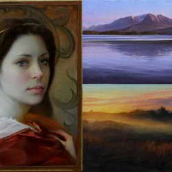 A collage of paintings by Ukranian-born artist Olena Babak, now of Hartland. Babak's art studio will be part of the open studio tour through parts of Somerset and Piscataquis counties on Saturday.