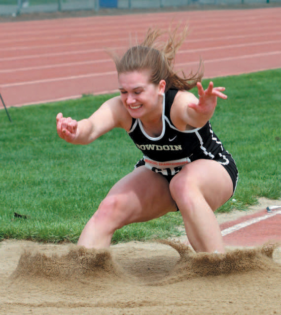 Photo by Jerry Levasseur/Bowdoin Sports Information Former Hall-Dale standout track athlete Laura Peterson is one of 15 athletes who will be inducted into the school's hall of fame on Sunday.