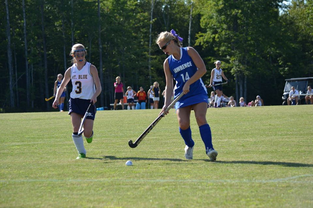 Lawrence field hockey player Hunter Chesley is recovering at home after a car accident in September left her with several injuries, including a fractured left ankle.