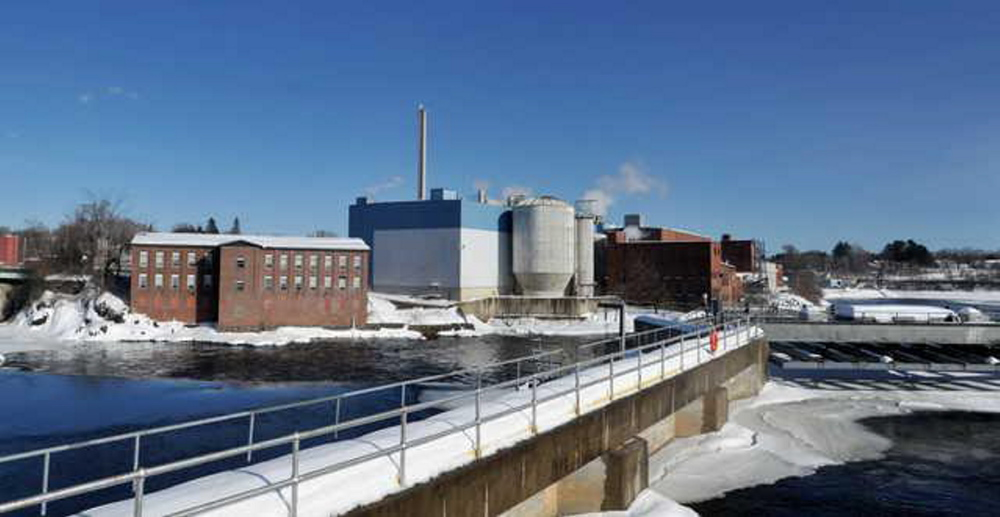 Madison Paper Industries' paper mill in downtown Madison