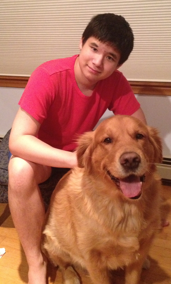 Christian Lee, shown with his dog, Kalbi, was an inspiration for the Wanderer's Program, which his mother, Linda Lee, helped develop with the Belfast Police Department to simplify the process of finding people who are more likely to disappear. The program is coming to Somerset County this month.