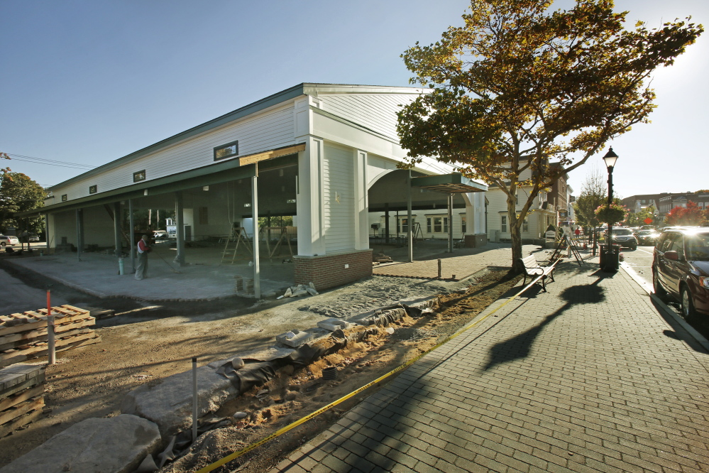 Geraldine Waterhouse donated $1.5 million to be used to operate and maintain the Waterhouse Center, a new pavilion in downtown Kennebunk that will house an ice skating rink in winter and other events throughout the year.
