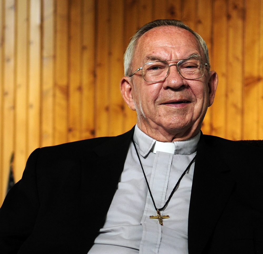 """The Rev. Real """"Father Joe"""" Corriveau has long had support from his native Winthrop for his efforts as a missionary priest in Haiti."""
