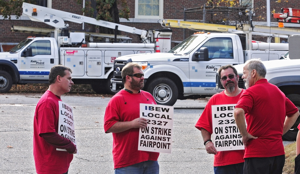 Gallery Fairpoint Workers On Strike In Augusta