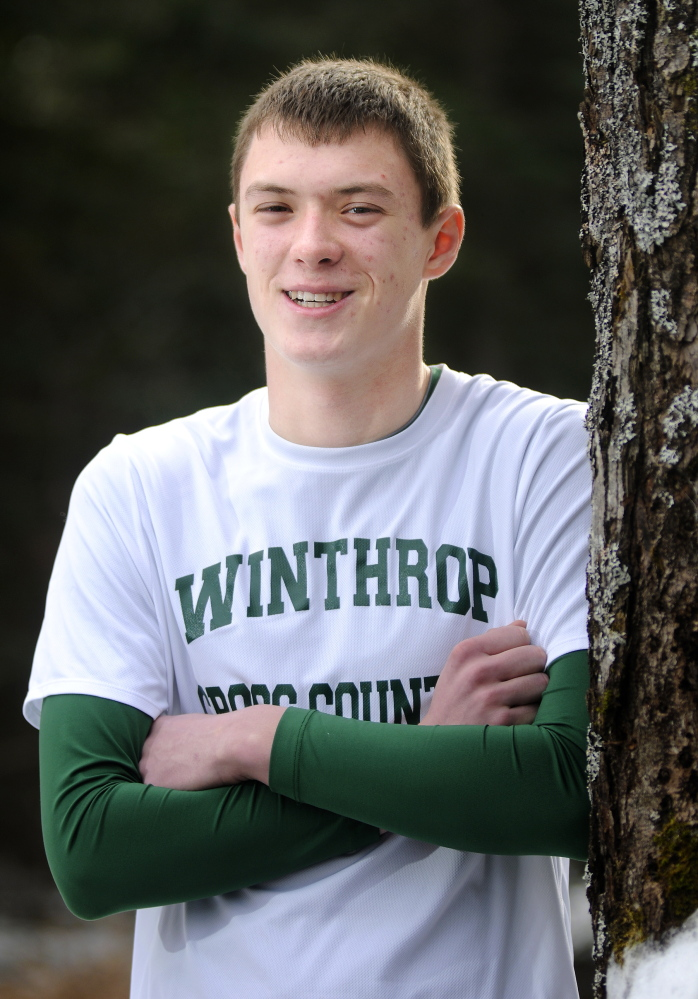 Winthrop senior Ben Allen was the top boys runner at the Mountain Valley Conference cross country championships Saturday morning.