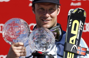 Aksel Lund Svindal of Norway tore his Achilles tendon playing soccer and will likely miss the entire ski season.