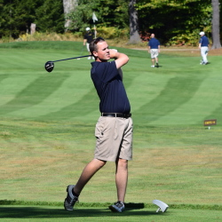 Contributed photo   Jacob Roddy, a Belgrade native, shot a 6-over par 77 at Pease Golf Club in Portsmouth, N.H., to help the University of Maine at Augusta golf team finish third in the Yankee Small Conference College championships