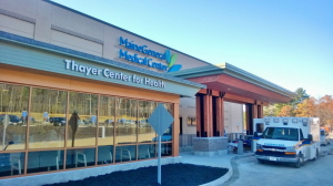 The Thayer Center for Health, shown above, in Waterville, hosted an open house Saturday to show off its newly completed 16 million renovation.