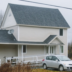 The home of Ted Wilbur, the boyfriend of Kaci Hickox, who returned Tuesday evening to Fort Kent, ME on Wednesday. (Photo by Whitney Hayward/Staff Photographer