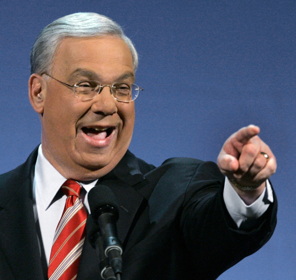 Boston Mayor Thomas Menino delivers his State of the City address in Boston in 2007. Menino died Thursday in Boston at age 71.
