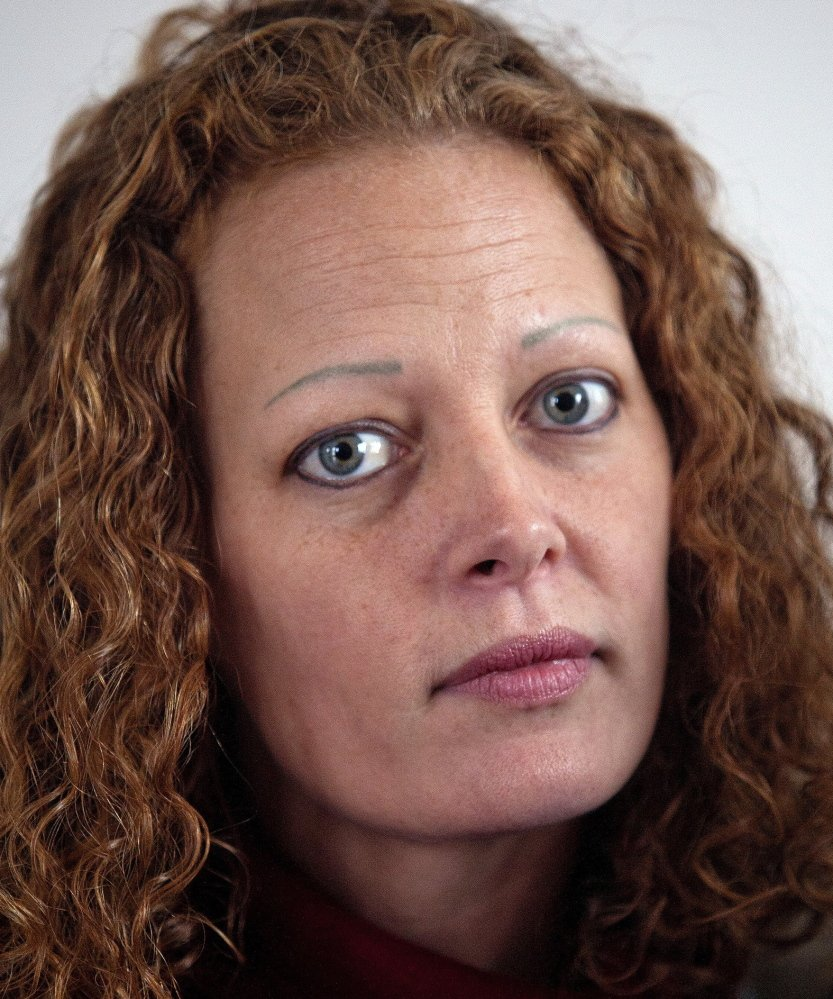 FORT KENT, ME - NOVEMBER 1: Kaci Hickox poses for a portrait in the living room of her Fort Kent home Saturday, November 1, 2014. Hickox received national media attention after returning home from being quarantined in Newark, N.J. after treating Ebola patients in Sierra Leone. (Photo by Gabe Souza/Staff Photographer)