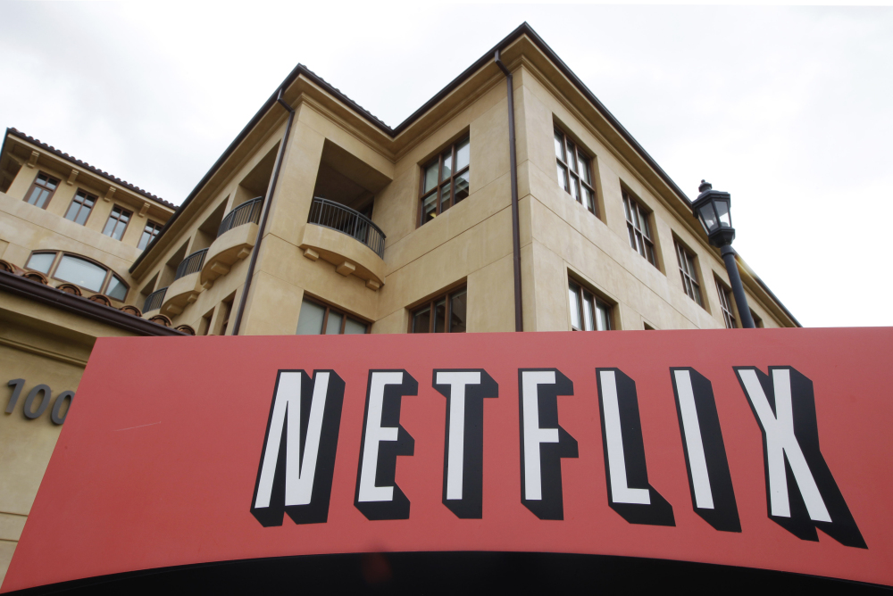 In this Oct. 10, 2011 file photo, the exterior of Netflix headquarters is seen in Los Gatos, Calif.