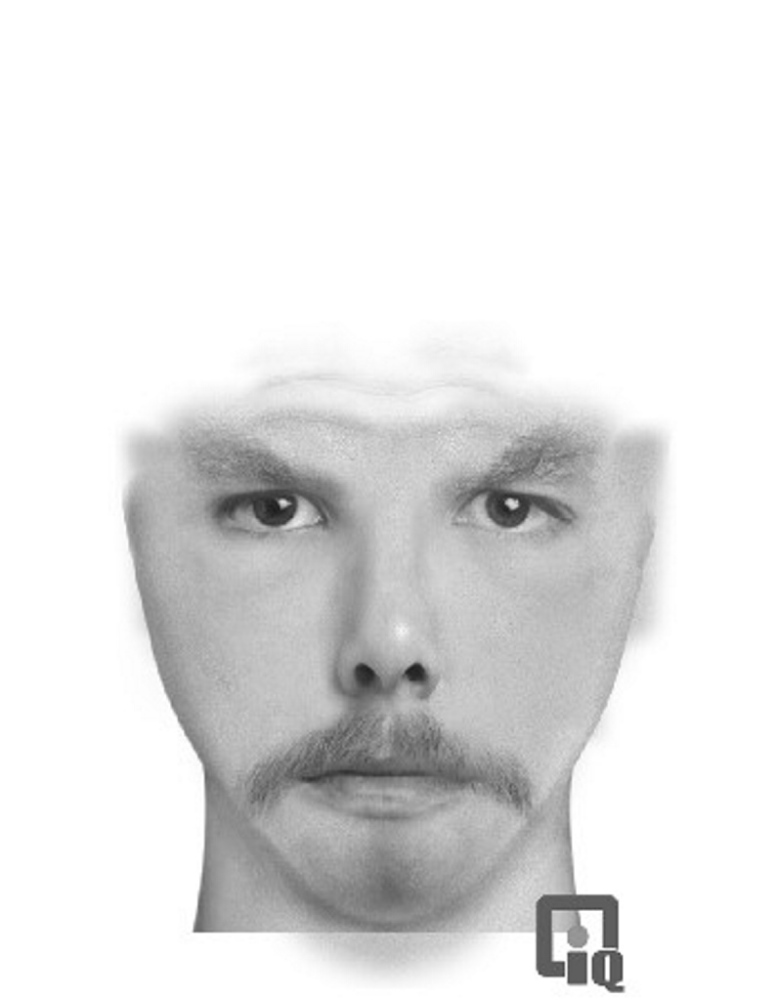 A computer-enhanced composite picture of the man who attempted to rob the Poulin-Turner Hall in Skowhegan Tuesday night.