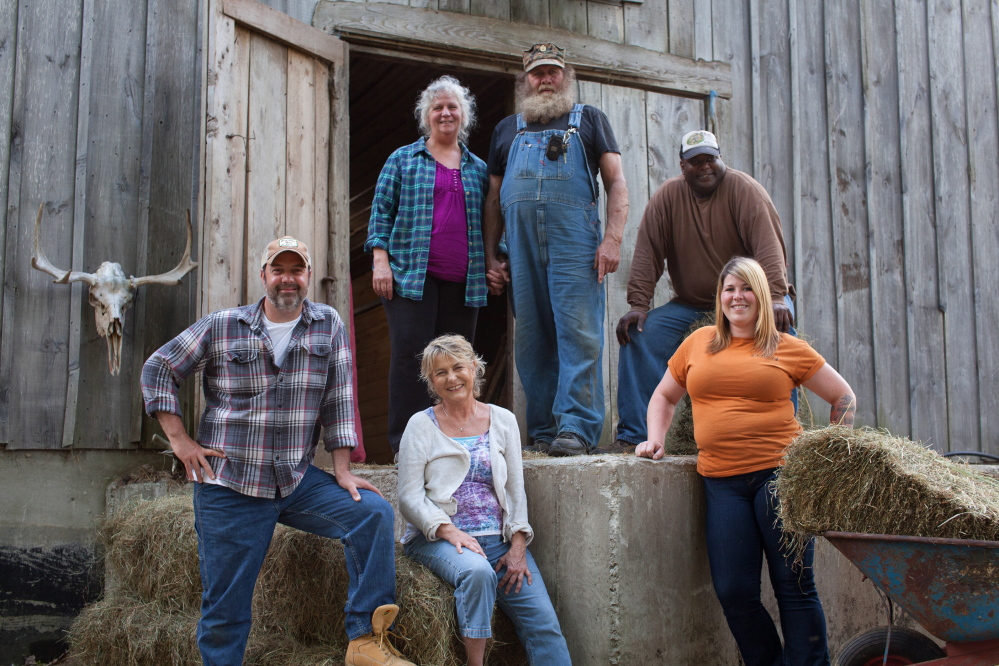 """The cast of """"Yankee Jungle,"""" a new reality show set to premiere on Animal Planet at 9 p.m. Sunday, Nov. 29, features, top from left, Julie and Bob Miner and Steve Jordan and, bottom from left, Jason Hodgdon, Karmo Sanders and Ella Mackowiak."""
