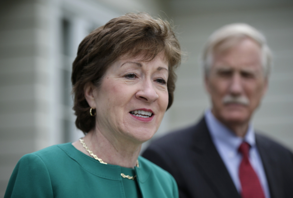 Sen. Susan Collins, R-Maine, and Sen. Angus King, I-Maine, are among those calling for regular bipartisan meetings in the Senate.