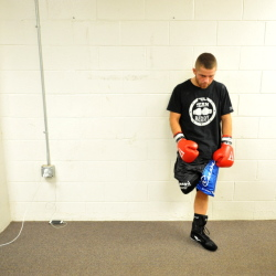 "Brandon ""The Cannon"" Berry prepares for his fight against Freddie Sanchez, of Worcester, Mass., at the Portland Expo at the Portland Expo on Saturday."