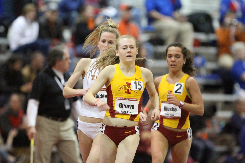 Waterville native and Iowa State sophomore Bethanie Brown has been slowed at times with an ankle injury this fall, but the standout runner will be able to compete in the outdoor national championships this weekend in Indiana.