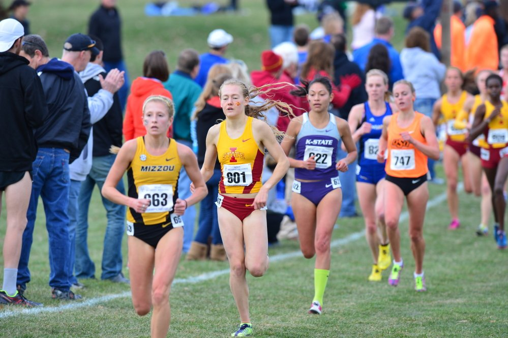 Bethanie Brown (801) will compete in the Division I cross country national championshipships at Indiana State this weekend. Brown, who's been bothered with an ankle injury, competes on a Cyclones team that won Big 12 and NCAA regional championships.