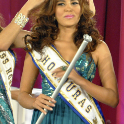 In this April 26, 2014 photo, Maria Jose Alvarado is crowned the new Miss Honduras in San Pedro, Sula, Honduras. Alvarado, and her sister Sofia disappeared after attending a birthday party in Western Honduras on Thursday but authorities were not notified until the weekend.