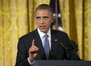 President Barack Obama speaks at the 'ConnectED to the Future', in the East Room of the White House in Washington, Wednesday.