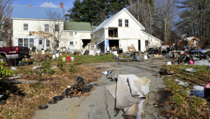 The home of Duane Pollis on Adam Street in Wilton on Tuesday.