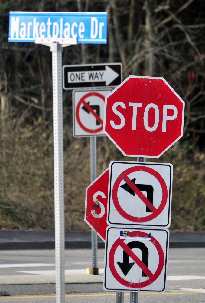 Drivers will be allowed to make a left turn from Marketplace Drive onto Townsend Road for a period of time this summer while work is done on Mount Vernon Avenue.