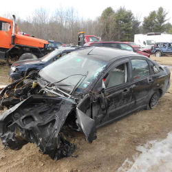 A West Gardiner teen apparently lost control of the car he was driving, breaking off a utility pole at the ground and rolling the car over several times. The impact tore the engine from the car.