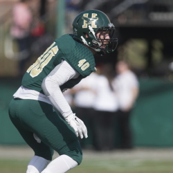 Husson sophomore Rick Orio, a former Cony standout, turned in a strong season for the Eagles. Orio finished with 39 tackles, including 23 solo, and three interceptions.