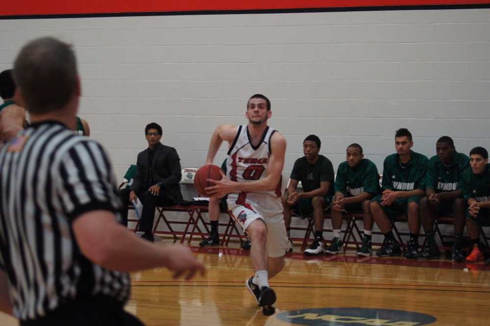 Skowhegan native Levi Barnes is expected to make a big impact for the Thomas College men's basketball team this season.