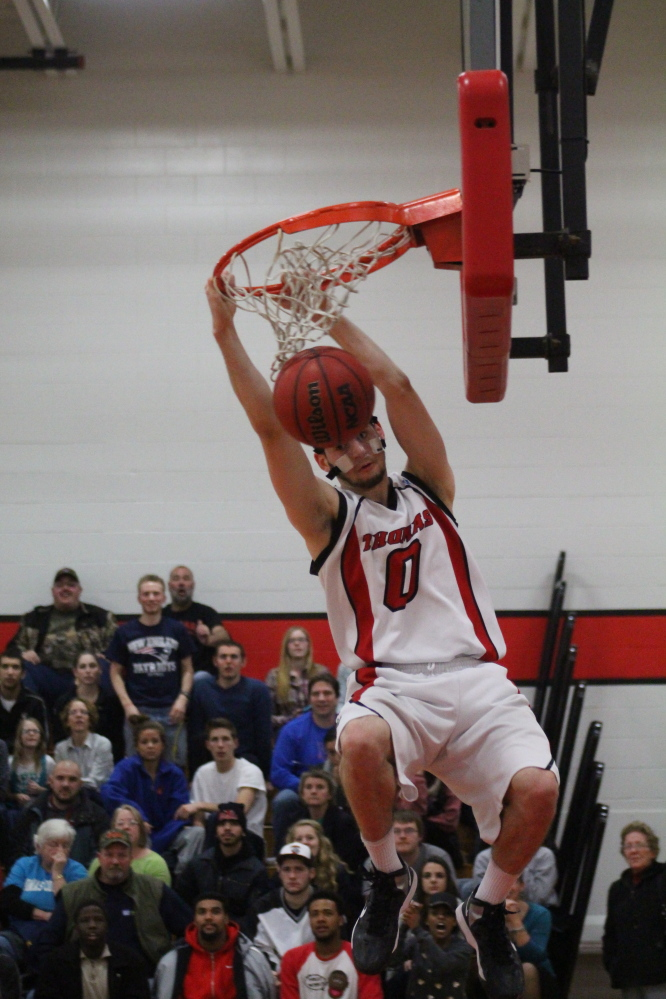 THomas College junior Levi Barnes leads a team this winter that seeks stability.