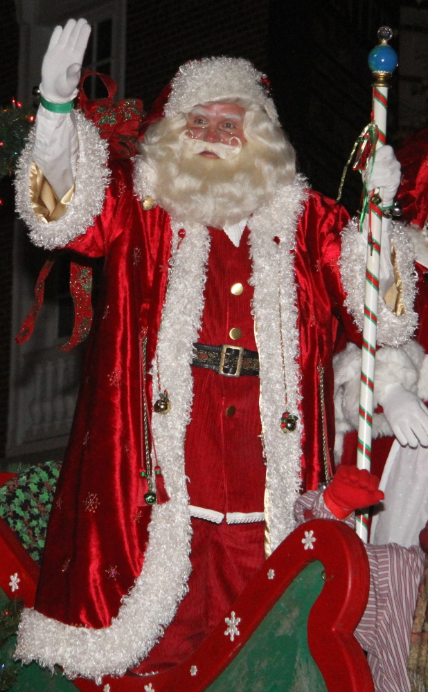 Guest of honor in the Waterville Parade of Lights will be Santa, who will light the city's Christmas tree, signaling the start of the countdown to Christmas.