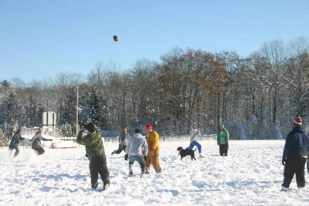 The Winslow Turkey Bowl was held Thursday at the midget football field behind Winslow High School. The tradition was started by former Black Raiders Ryan and Josh Plisga.