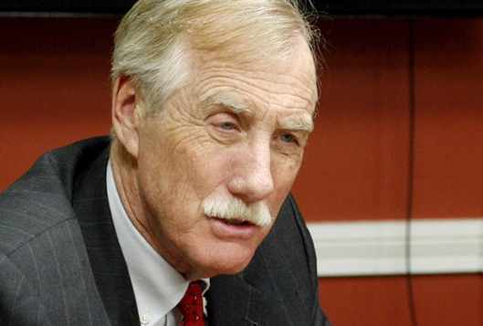 """We have a plan to treat it, and plan for a full recovery,"" Sen. Angus King says."