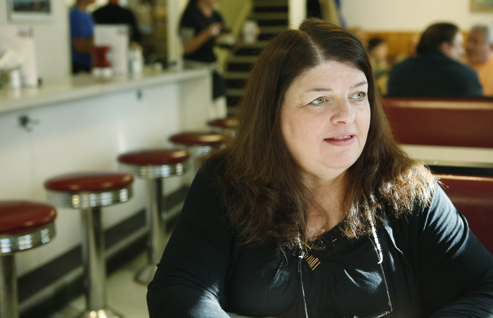 "Owner Becky Rand hopes to find affordable health insurance that she can offer to all of her employees at Becky's Diner in Portland. ""I believe it's important. I would love it,"" she said. Gregory Rec/Staff Photographer"