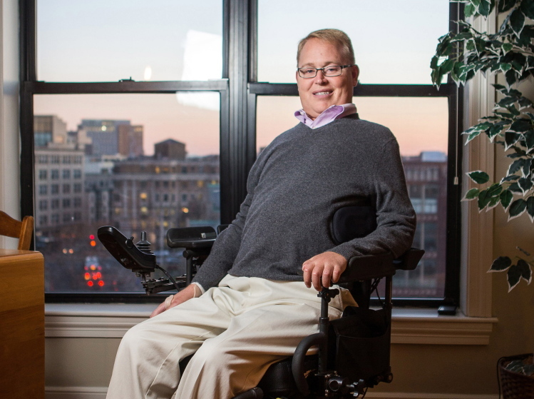Maine's own Travis Roy, 39, now of Boston, will be presented the Christopher Reeve Foundation's prestigious Spirit of Courage Award at its annual gala in New York City on Thursday. Aram Boghosian/Special to the Press Herald