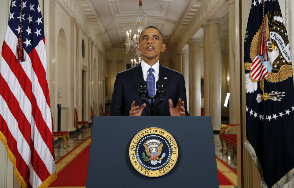 """President Obama announces his executive actions on immigration during a nationally televised address from the White House on Thursday night. Obama outlined a plan to relax U.S. immigration policy affecting as many as 5 million people. He said his executive actions are a """"commonsense"""" plan consistent with what past presidents from both parties have done."""