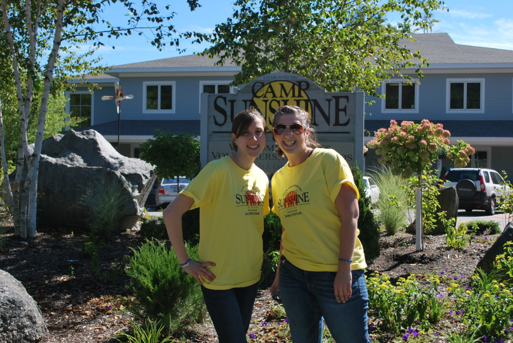 Day's Jewelers employees Amanda Nadeau and Katie Leighton volunteering for a day at Camp Sunshine. Day's Jewelers presented a $10,000 check to Camp Sunshine recently as part of the Jewelers for Children Local Grant Program. The check was presented by Jewelers for Children Executive Director David Rocha at the Day's Jewelers for Children Gala. The event was part of Day's Centennial initiative to raise $100,000 for Jewelers for Children in 2014.
