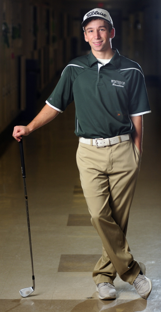 Winthrop senior Taylor Morang is the 2014 Kennebec Journal Golfer of the Year.
