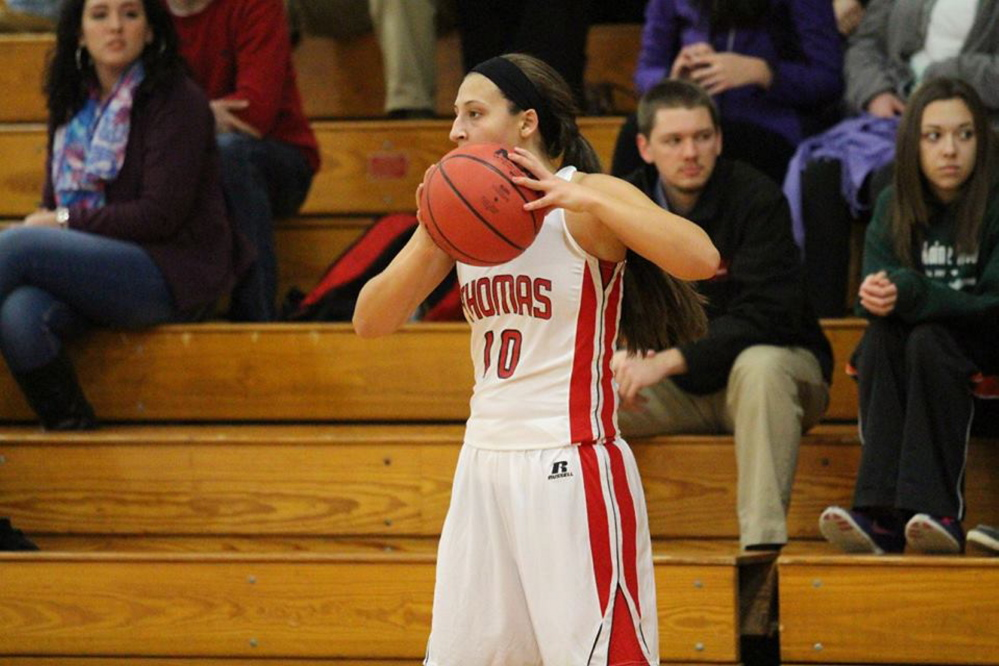 Katie McAllister, of Pittston, is one of three returning players for the Thomas College women's basketball team.