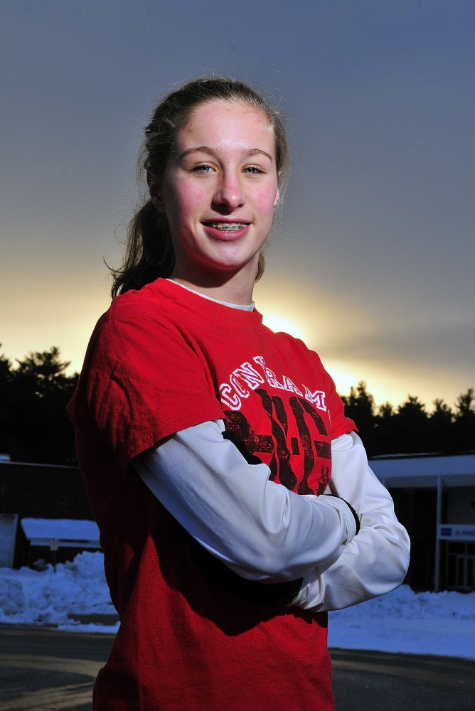 Cony High School's Anne Guadalupi is the Kennebec Journal Girls Cross Country Runner of the Year.