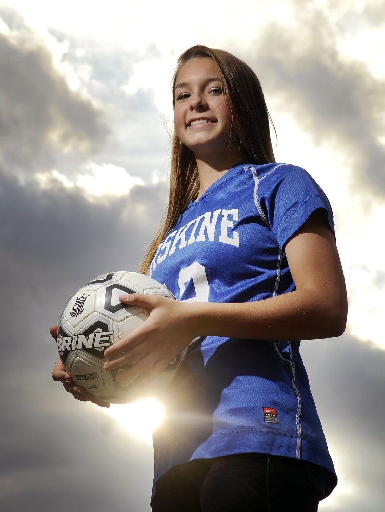 Erskine Academy's Avery Bond is the Kennebec Journal Girls Soccer Player of the Year.