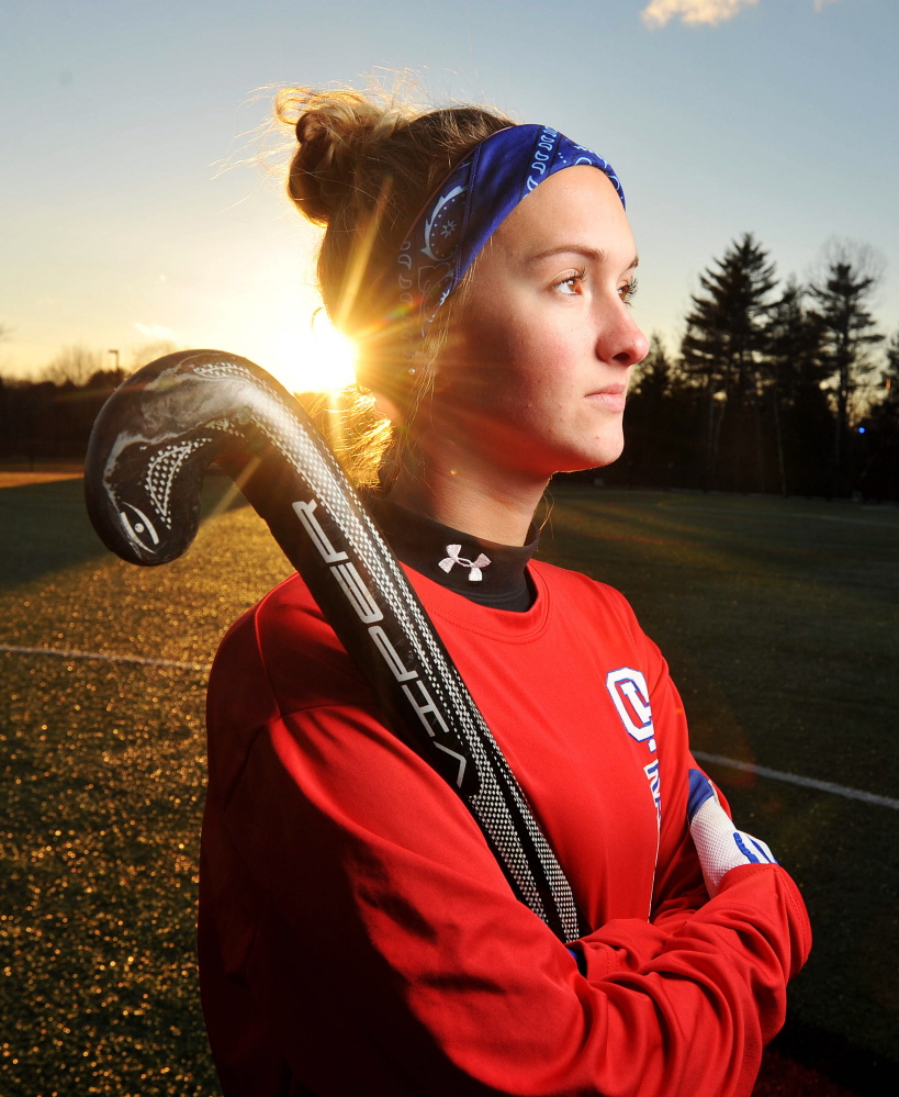Oak Hill's Hayley Marshall is the Kennebec Journal Field Hockey Player of the Year.
