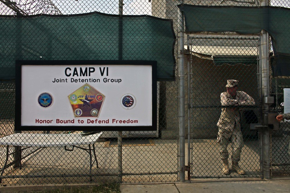 The U.S. government said Sunday that six men who have been held more than 12 years at Guantanamo Bay have been sent to Uruguay to be resettled as refugees.