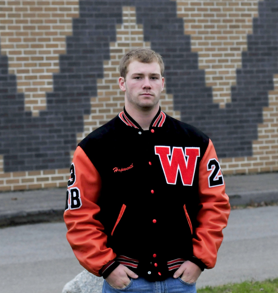 Winslow's Dylan Hapworth is the Morning Sentinel Football Player of the Year.