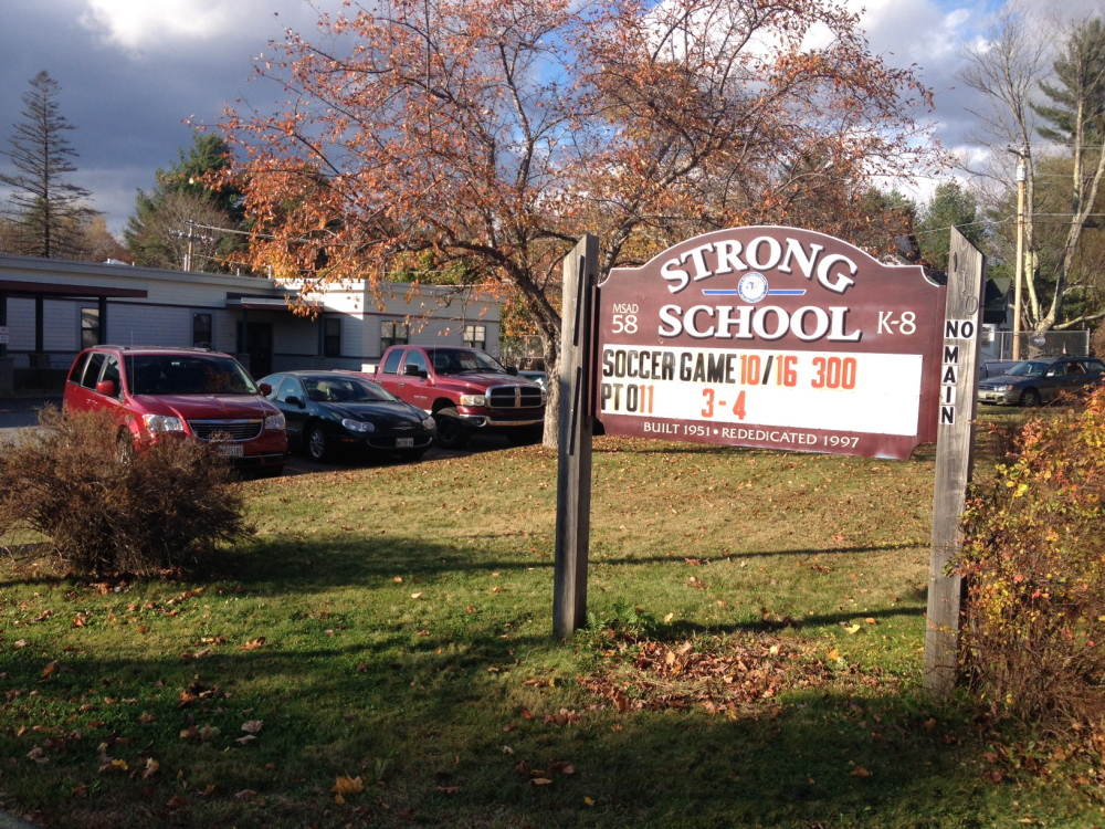Strong Elementary School, along with Kingfield Elementary School, may get pre-kingergarten classes if School Administrative District 58 gets a state grant for which it has applied. Phillips Elementary School, the district's other elementary school already has Head Start.