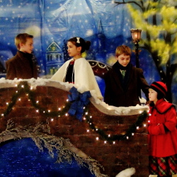 "The hymn-origin drama of ""O Little Town of Bethlehem"" will be presented at 7 p.m. Dec. 19-21 at New Hope Baptist Church, 268 Perham St., Farmington. From left are Ezra Wildrick, Giulia Johnson, John Curtis Winslow and Melody Andrews."