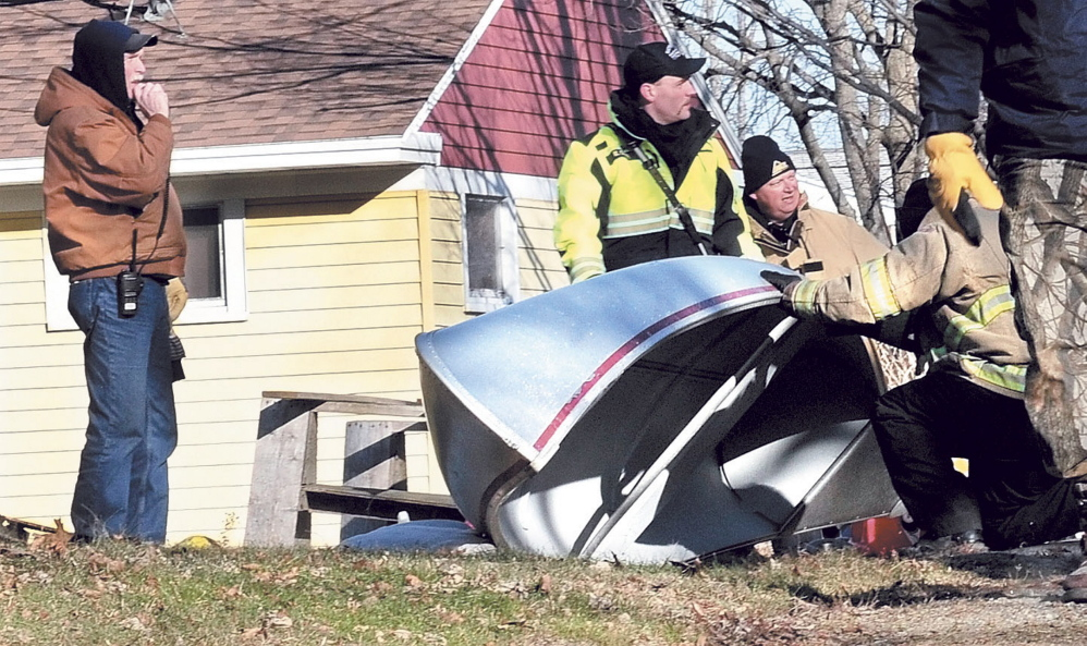Waterville and Winslow fire personnel and game wardens conduct an extensive search of yards and outbuildings along Violette Avenue in Waterville and surrounding streets after Ayla Reynolds was reporting missing Dec. 17, 2011.
